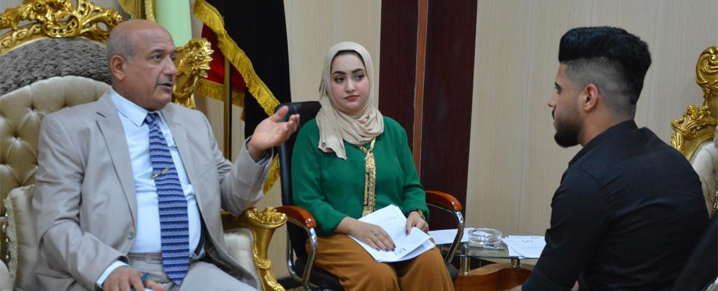 رئيس جامعة البصرة للنفط والغاز يلتقي بعدد من المواطنين ويوجه  لاكمال طلباتهم وحل مشاكلهم
