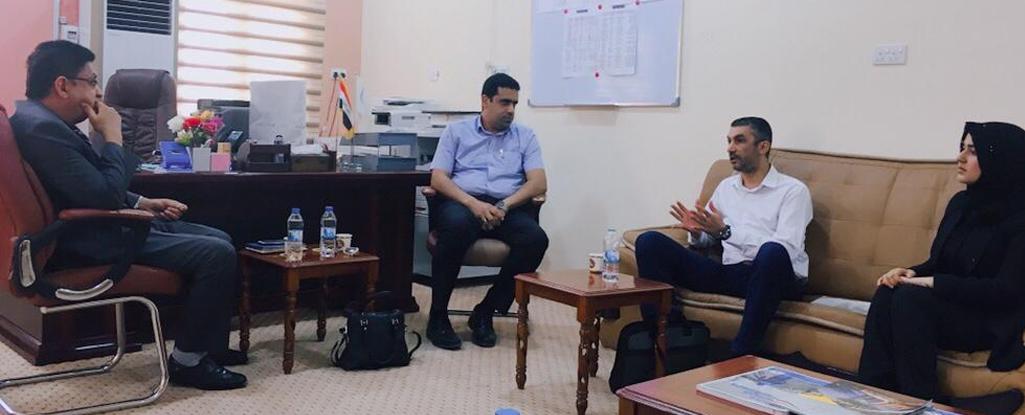 لجنة وزارية تزور جامعة البصرة للنفط والغاز للاطلاع على الاقسام المستحدثة