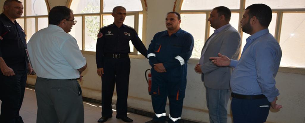 وفد من مديرية الدفاع المدني يزور رئاسة جامعة البصرة للنفط والغاز لتعزيز اجراءات السلامة في المباني الحكومية