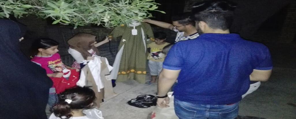 جامعة البصرة للنفط والغاز وضمن العمل التطوعي توزع ملابس العيد للأطفال الفقراء والايتام