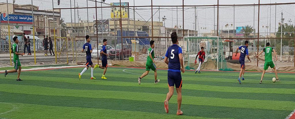 انطلاق بطولة خماسي كرة القدم لطلبة جامعة البصرة للنفط والغاز كأس رئيس الجامعة