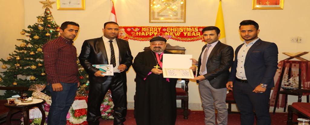 منتسبو جامعة البصرة للنفط والغاز يقدمون التهاني الى الاخوة المسيح بمناسبة اعياد الميلاد