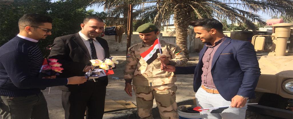 منتسبو جامعة البصرة للنفط والغاز يحتفلون بمناسبة عيد الجيش العراقي