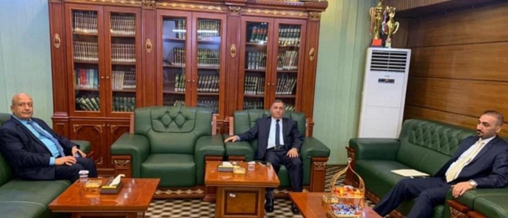 رئيس الجامعة العراقية يستقبل رئيس جامعة البصرة للنفط والغاز لبحث التعاون المشتركين