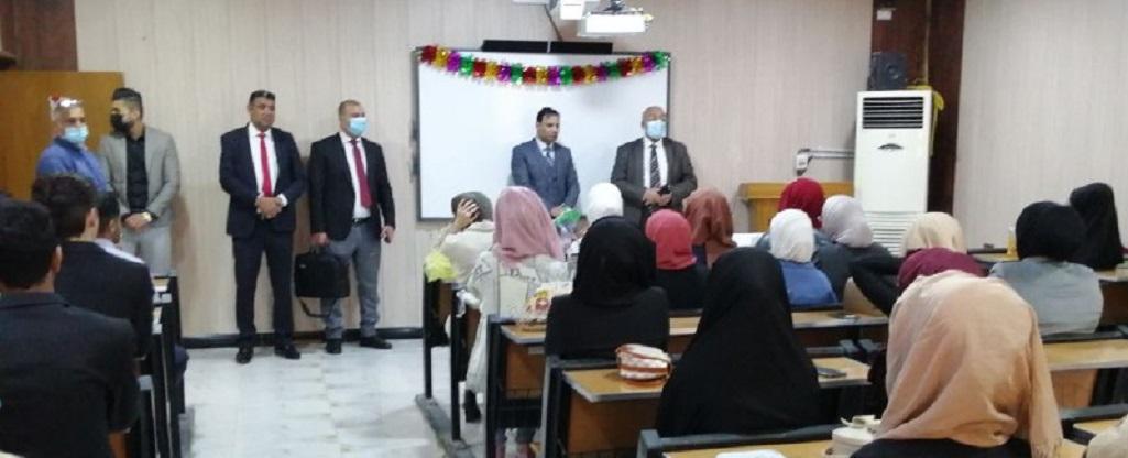 رئيس جامعة البصرة للنفط والغاز يرحب بالطلبة المقبولين في كلية الادارة الصناعية للنفط والغاز