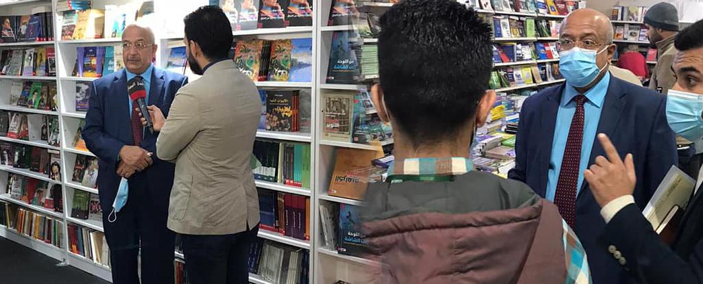 رئيس جامعة البصرة للنفط والغاز يزور معرض العراق الدولي للكتاب ويبحث مع ادارة المعرض توفير المصادر لمكتبات الجامعة