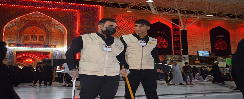 بمناسبة اليوم العراقي للعمل التطوعي جامعة البصرة للنفط والغاز تسهم بتقديم الخدمة للزائرين